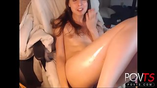 Cute femboy jerks hairy big cock Cam